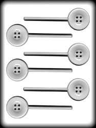 "1 3/4"" BUTTON SUCKER HARD CANDY MOLD"