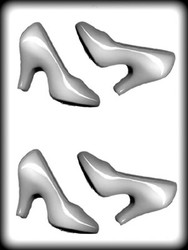 "4"" 3-D HIGH HEEL SHOE HARD CANDY MOLD"
