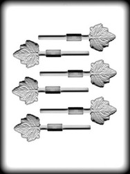 "1-5/8"" MAPLE LEAF SUCKER HARD CANDY MOLD"
