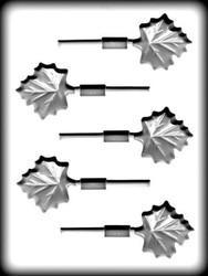 "2"" MAPLE LEAF SUCKER HARD CANDY MOLD"