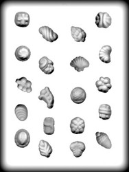"""1-1/4"""" FLOWERS/FRUIT/NUTS HARD CANDY MOLD"""
