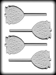 "2-1/2"" STAWBERRY SUCKER HARD CANDY MOLD"