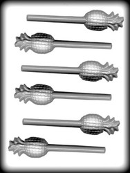 "2-3/8"" PINEAPPLE SUCKER HARD CANDY MOLD"