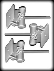 "2-1/2"" CAP/DIPLOMA SUCKER HARD CANDY MOLD"