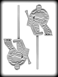 "4-1/4"" HOCKEY GOALIE SUCKER HARD CANDY MOLD"
