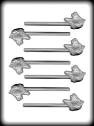 "1 3/4"" PONY HEAD SUCKER HARD CANDY MOLD"