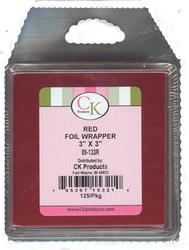 """3"""" x 3"""" FOIL RED       PLASTIPAK--PKG/125"""
