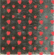 "FOIL WRAPPER 4"" x 4""-HEART PRINT--PKG/1000"