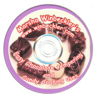 EASY CHOCOLATE TEMPERING /CANDY COATING USES DVD BY MARSHA WINBECKLER