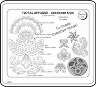 JEM FLORAL APPLIQUE - JACOBEAN