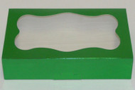 "COOKIE BOX-GREEN 8 3/8"" x 5¼"" x 2"""