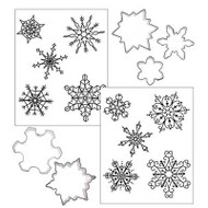 COOKIE CUTTER TEX. SET-SNOWFLAKE