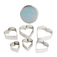 CUTTER SET-HEARTS--6 PC