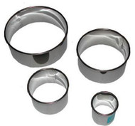 ROUND BISCUIT/COOKIE CUTTER SET Stainless