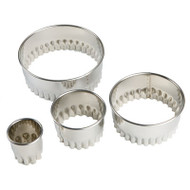 SCALLOP BISCUIT/COOKIE CUTTER SET Stainless