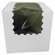 CUPCAKE BOX W/WINDOW WHITE 4X4X4 PKG/100