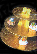 3-TIER CUPCAKE STAND / GOLD