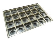 1# GOLD SQUARE CAVITY INSERT ONLY (BOX NOT INCLUDED)--PKG/25