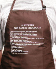 APRON-15 EXCUSES/EATING CHOC.