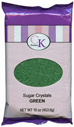 16 OZ SUGAR CRYSTALS-GREEN