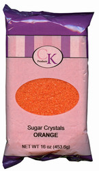 16 OZ SUGAR CRYSTALS-ORANGE