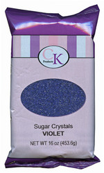16 OZ SUGAR CRYSTALS-VIOLET