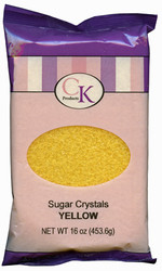 16 OZ SUGAR CRYSTALS-YELLOW