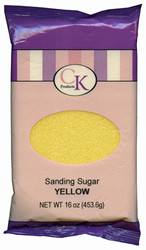 16 OZ SANDING SUGAR-YELLOW