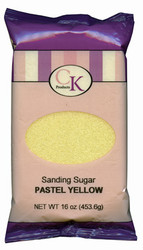 16 OZ SANDING SUGAR-PASTEL YELLOW