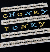FMM CHUNKY FUNKY UPPER CASE LETTER & NUMBER TAPPITS