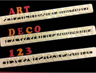 FMM ART DECO ALPHABET & NUMBERS TAPPITS--SET OF 3