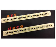 FMM ART DECO LOWER CASE ALPHABET TAPPITS--SET OF 2