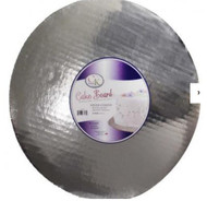 "12"" Silver, Coated Round Cardboards--Pkg/6"