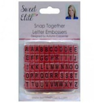 SNAP TOGETHER LETTER EMBOSSERS--Set of 55