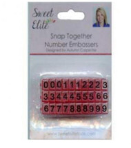 SNAP TOGETHER NUMBER EMBOSSERS--Set of 30