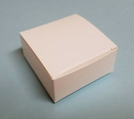 "SMALL WHITE FOLDING CANDY BOX APPROX. 2-1/2"" L x 2-1/2"" W x 1-1/8"" H--PKG/24"