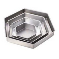 WILTON HEXAGON PAN SET--Set/4