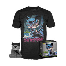 Funko POP! & Tee DC Collection By Jim Lee: Catwoman GameStop Exclusive Vinyl Figure & T-shirt Set - Size: X-Small - Funko Closeout