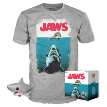 Funko POP! & Tee Movies Jaws: Great White Shark 6 Inch Target Exclusive Vinyl Figure & T-shirt Set - Size: X-Small - Closeout