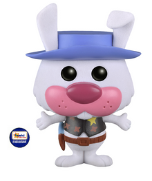 Funko POP! Animation Hanna Barbera: Flocked Ricochet Rabbit Gemini Collectibles Exclusive Vinyl Figure - Damaged Box / Paint Flaw