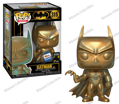Funko POP! DC Comics Batman 80th Anniversary: Bronze Patina Batman (1989) Gemini Collectibles Exclusive Vinyl Figure