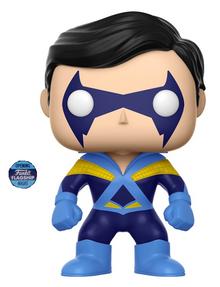 Funko POP! DC Comics Super Heroes: Disco Nightwing Vinyl Figure - Funko Flagship Opening Night Sticker - Damaged Box / Paint Flaw