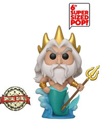 Funko POP! Disney The Little Mermaid: King Triton 6 Inch Special Edition Sticker  Vinyl Figure - Limited Inventory!