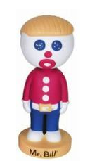 Funko Television: Mr. Bill Wacky Wobbler Bobblehead - Damaged Box / Paint Flaw
