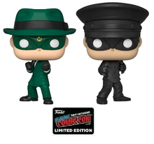 2019 NYCC Funko POP! Television The Green Hornet: Green Hornet & Kato Exclusive Vinyl Figure 2 Pack - NYCC Sticker  - Damaged Box / Paint Flaw
