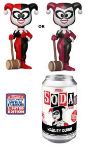 2021 FunKon Funko Soda DC Comics: Harley Quinn With Mallet Exclusive Vinyl Figure - Virtual FunKon Sticker
