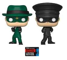 2019 NYCC Funko POP! Television The Green Hornet: Green Hornet & Kato Exclusive Vinyl Figure 2 Pack - Fall Convention Sticker - Damaged Box / Paint Flaw