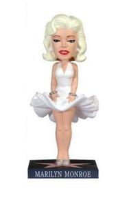 Funko Movies: Marilyn Monroe (Hollywood) Wacky Wobbler Bobblehead - Damaged Box / Paint Flaw