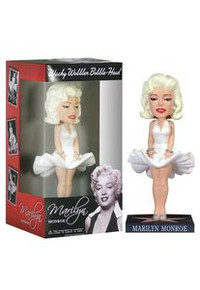 Funko Movies: Marilyn Monroe (Hollywood) Wacky Wobbler Bobblehead - Damaged Box / Paint Flaw