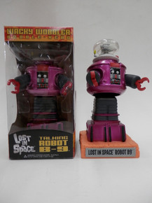 Funko Television Lost In Space: Metallic Magenta B-9 Robot Gemini Collectibles Exclusive Wacky Wobbler Bobblehead - No Sticker / Does Not Talk - Clearance